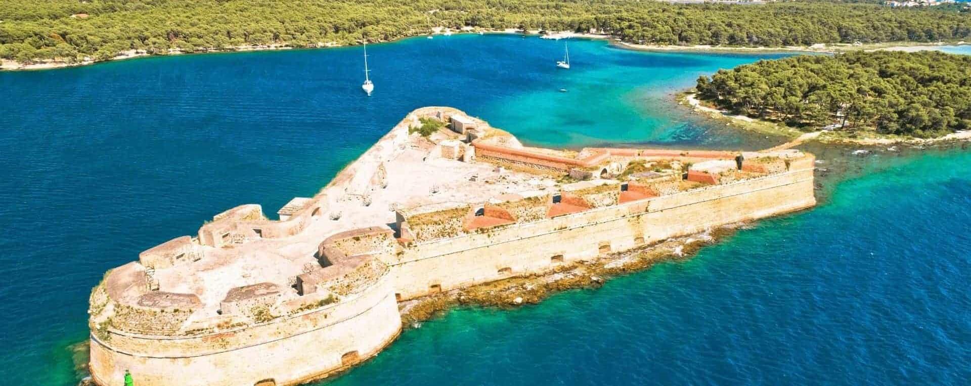 St Nicholas fortress on a sea near Sibenik