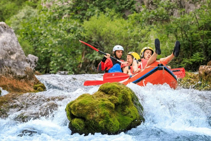 Rafting on Cetina River, adventure intended for the whole family through the untouched nature, day tours from Split, Sibenik and island Brac